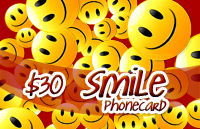 Smile Phone Card $30