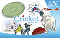 Cricket Phone Card $50