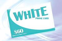 White Phone Card $60