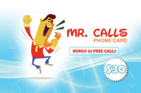 Mr Calls Phone Card $30